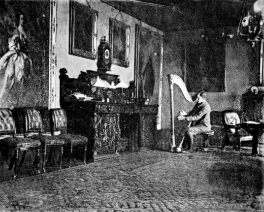 Dining Room, Dunvegan Castle, a large castle and mansion, stands on a pretty spot to the north of the island of Skye in the Hebrides of Scotland and has long been the seat of the MacLeods of Dunvegan.