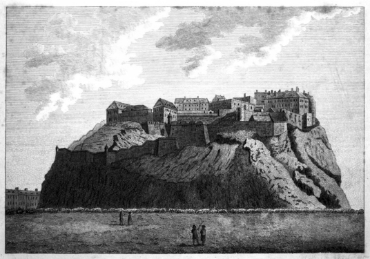 Edinburgh Castle, standing on a rock in the middle of Scotland's capital city, a magnificent fortress and palace, used by the monarchs of Scotland (such as St Margaret and Mary Queen of Scots) as one of the principal strongholds of the kingdom of Scots.