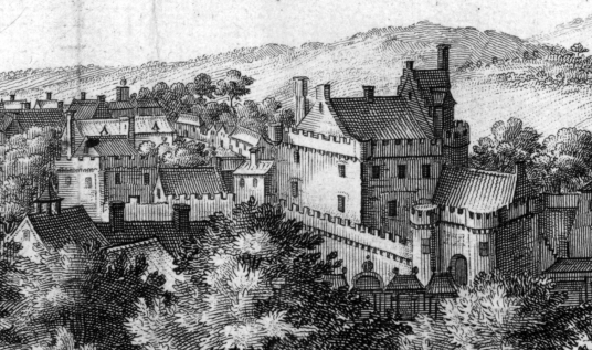 Glasgow Castle, once a strong castle, now gone, replaced by Glasgow Infirmary and once close to Glasgow Cathedral in Scotland's largest city.