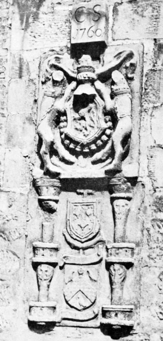 Heraldic panel from Glasgow Castle, once a strong castle, now gone, replaced by Glasgow Infirmary and once close to Glasgow Cathedral in Scotland's largest city.