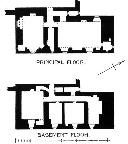 Plans, Sorn Castle, a fine old castle and mansion set in fine expansive grounds and woodland, owned by several families including the Hamiltons, Setons and Campbells, near Mauchline in Ayrshire in southwest Scotland.