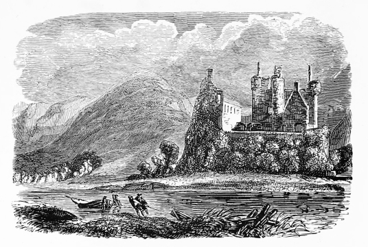 Kilchurn Castle, one of the most photographed and picturesque of Scottish castles, long held by the Campbells later of Breadalbane, and located on a peninsula in Loch Awe near the village of Lochawe in Argyll.