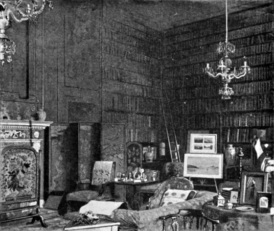 Library, Newhailes House, an atmospheric if somewhat gloomy old mansion with a fantastic period interior, long associated with the Dalrymple family and located in landscaped parkland by the sea near Musselburgh in East Lothian in central Scotland.