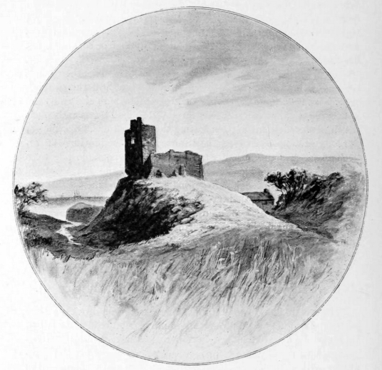 Red Castle, an impressive but shattered ruinous old stronghold, once a large and strong castle held by the Barclays, Stewarts and Beatons, in prominent spot near the sea some miles from Montrose and near Lunan in Angus in northeast Scotland.