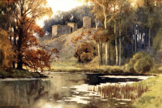 Roxburgh Castle, little of which survives, was once an important stronghold with a large adjoining burgh, near Kelso in the Borders in southeast Scotland