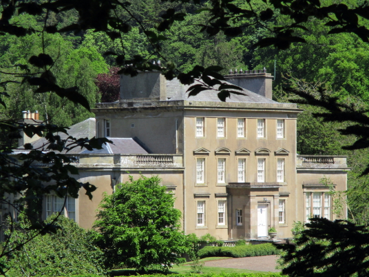 Carolside House, a fine mansion with lovely gardens, held by the Homes, near Earlston in the Borders in southern Scotland.