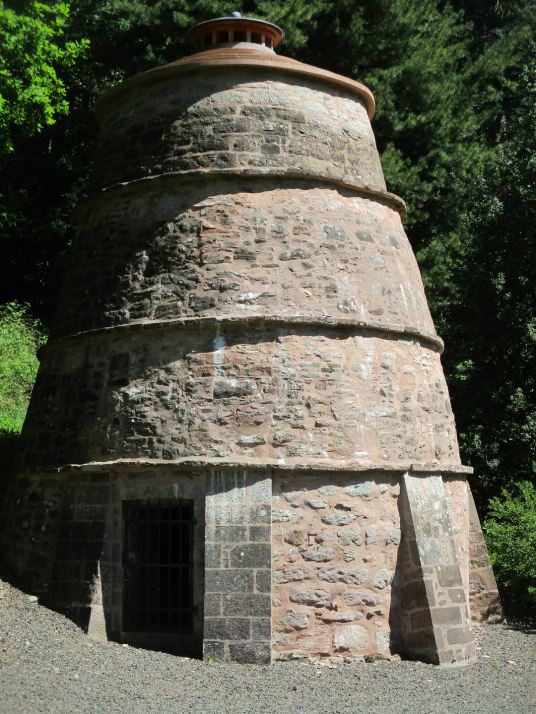 Doocot, Mertoun House is a fine mansion with lovely gardens, held by the Scotts and then the Dukes of Sutherland, near Kelso in the Borders in southeast Scotland.