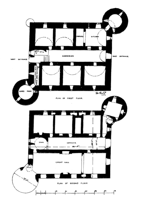 Drochil castle the castles of scotland coventry for Brodie house plan